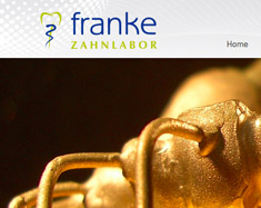 Website Zahnlabor Franke